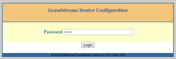 Grandstream HT-503 login